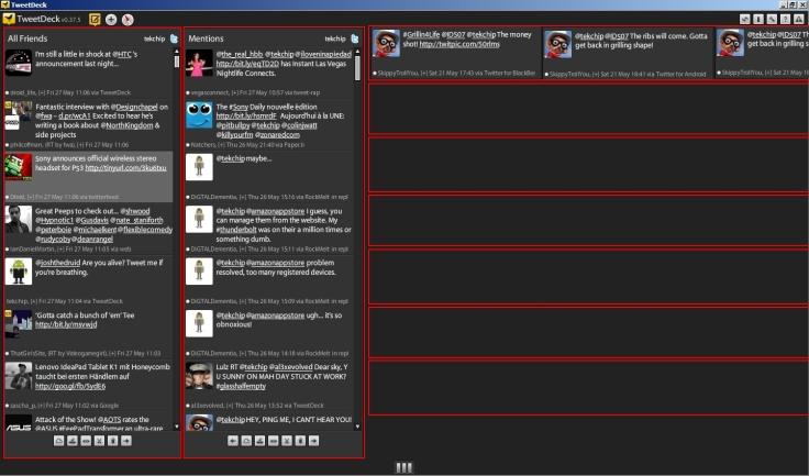 twitter horizontal prototype