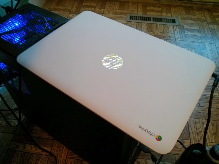 White Hp Chromebook 14